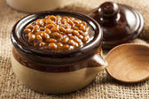 Homemade Barbecue Baked Beans — 图库照片