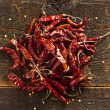 Organic Dried Red Hot Peppers — Foto Stock