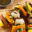 Stock Photo: Organic Grilled Vegetable shish Kebab