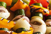 Organic Grilled Vegetable shish Kebab — Stock Photo