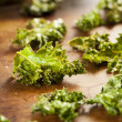 Homemade Organic Green Kale Chips — Stock Photo #25075435