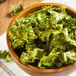Homemade Organic Green Kale Chips — Stock Photo #25075477