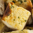Homemade Crunchy Garlic Bread — Stock Photo