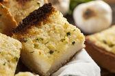Homemade Crunchy Garlic Bread — Stock Photo
