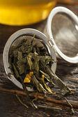 Organické zelený čaj zdravý — Stock fotografie