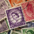 Colorful Vintage Used Postage Stamps — Stok Fotoğraf #25762325