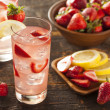 Stock Photo: Refreshing Ice Cold Strawberry Lemonade