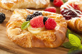 Homemade Gourmet Danish Pastry — Stock Photo