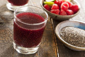 Raspberry and Chia Seed Beverage — Stock Photo