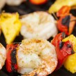 Homemade Shrimp Shish Kebab — Stock Photo