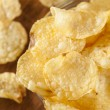 Unhealthy Crispy Potato Chips — ストック写真