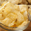 Unhealthy Crispy Potato Chips — Stock Photo