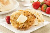 Organic Whole Wheat English Muffins — Stock Photo
