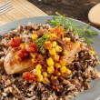 Southwestern Chicken with Rice and Corn — Stock Photo
