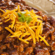 Spicy Homemade Chili Con Carne Soup — Stock Photo