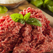 Organic Raw Grass Fed Ground Beef — Stock Photo