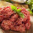 Organic Raw Grass Fed Ground Beef — Zdjęcie stockowe