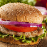 Homemade Turkey Burger on a Bun — Stock Photo #29389159