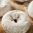 Stock Photo: White Homemade Powdered Donuts