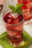 Cold Refreshing Berry Hibiscus Ice Tea — Stock Photo