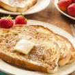 Homemade French Toast with Butter — Stock Photo