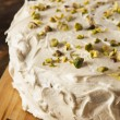 Homemade Gourmet Pistachio Cake — Stock Photo