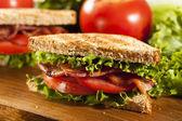 Fresh Homemade BLT Sandwich — Stock Photo
