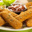 Homemade Fried Mozzarella Sticks — Stock Photo