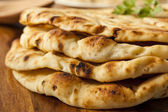 Homemade Indian Naan Flatbread — Stock Photo