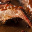 Smoked Barbecue Pork Spare Ribs — Stock Photo