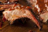 Smoked Barbecue Pork Spare Ribs — Stock Photo