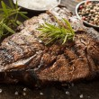 Stock Photo: Grilled BBQ T-Bone Steak