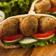 Stock Photo: Organic Falafel in a Pita Pocket