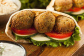 Organic Falafel in a Pita Pocket — Stock Photo