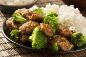 Homemade Asian Beef and Broccoli — Stock Photo