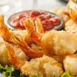 Stock Photo: Fried Organic Coconut Shrimp
