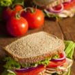 Homemade Turkey Sandwich — Stock Photo