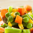 Steamed Organic Vegetable Medly — Stockfoto