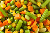 Steamed Organic Vegetable Medly — Stock Photo