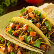 Homemade Ground Beef Tacos — Stock Photo