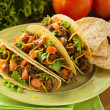 Stock Photo: Homemade Ground Beef Tacos
