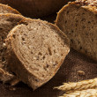Fresh Homemade Whole Wheat Bread — Stock Photo