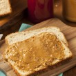 Homemade Chunky Peanut Butter Sandwich — Stock Photo