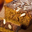 Organic Homemade Pumpkin Bread — Stock Photo #33017725