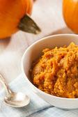 Organic Orange Pumpkin Puree — Stock Photo