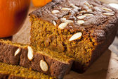 Organic Homemade Pumpkin Bread — Stock Photo