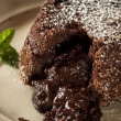 Homemade Chocolate Lava Cake Dessert — Stock Photo