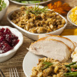 Homemade Turkey Thanksgiving Dinner — Stock Photo