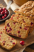 Homemade Delicious Cranberry Bread — Stock Photo