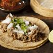 Traditional Pork Tacos — Stock Photo